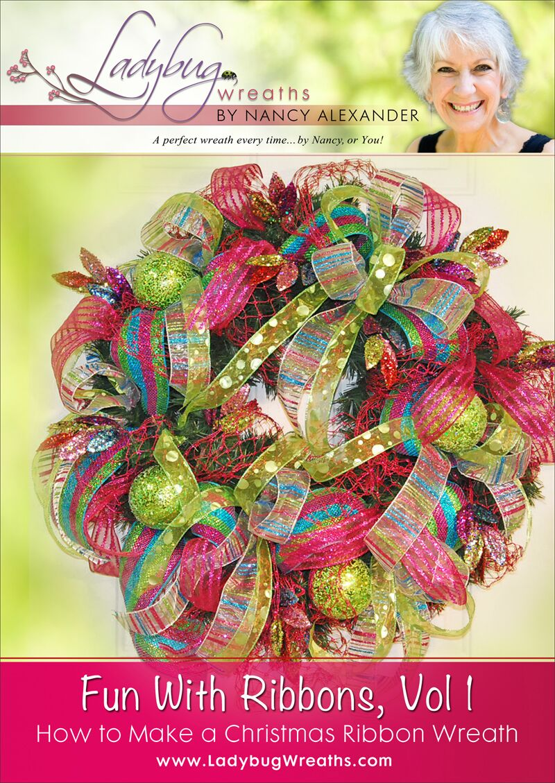 Christmas Ribbon Wreaths.Fun With Ribbons Vol 1 Christmas Door Wreath Ladybug