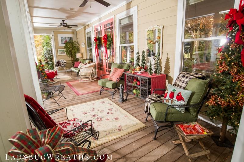 Porch at Christmas